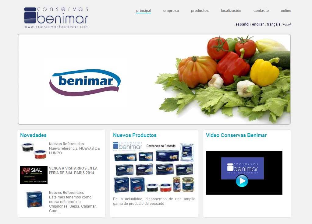 Web Conservas Benimar